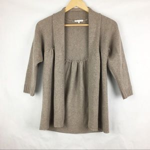 VINCE Tan 100% Cashmere Open Front Sweater Size M